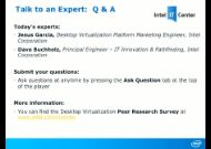 Talk to an Expert Series: Desktop Virtualization Survey