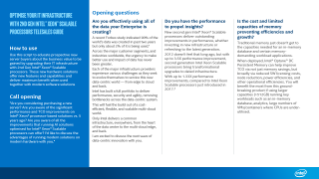 Optimize Your IT infrastructure with 2nd Gen Intel® Xeon® Scalable Processors Telesales Guide