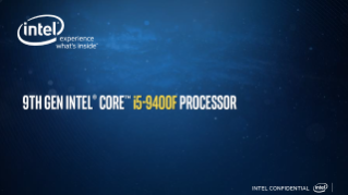 9th Gen Intel® Core™ i5-9400F Desktop Processor Sales Brief