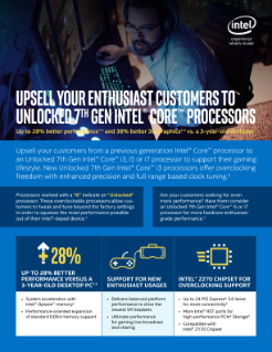 Upsell Your Enthusiast Customers to Unlocked 7th Gen Intel® Core™ Processor