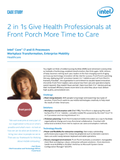 Healthcare Transformation with 2 in 1s in the Workplace