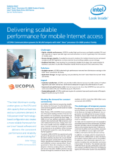High-performance Servers Deliver Reliable, Cost-efficient Mobile Internet Access