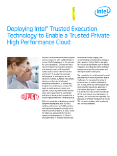 Intel® Trusted Execution Technology Enables High-Performance Cloud