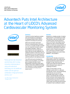 Advantech, LiDCO Cardiac Sensor Systems Advanced Monitoring System