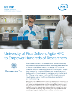 University of Pisa Delivers Agile HPC to Empower Hundreds of Researchers
