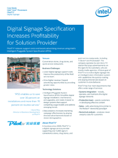 Digital Signage Specification Increases Profitability for PilotTV