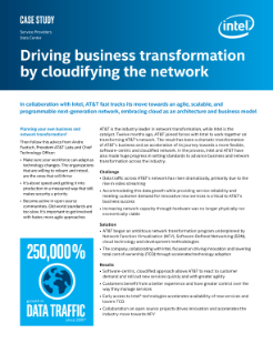 Intel and AT&T Drive Business Transformation by Cloudifying the Network