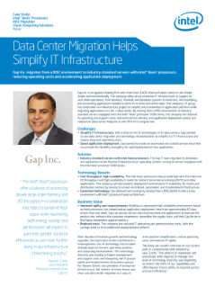 Data Center RISC Migration Simplifies IT Infrastructure