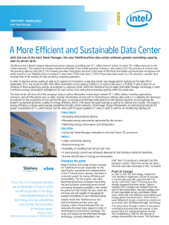 A more efficient and sustainable data center