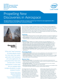 Accelerate Aerospace on Intel® Xeon® Processor-Based HPC
