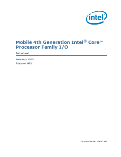 Mobile 4th Gen Intel® Core™ Processor Family I/O: Datasheet