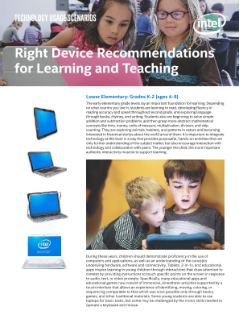 Right Device Recommendations for Learning and Teaching