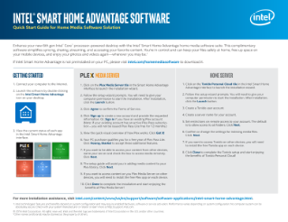 Intel® Smart Home Advantage Software Quick Start Guide