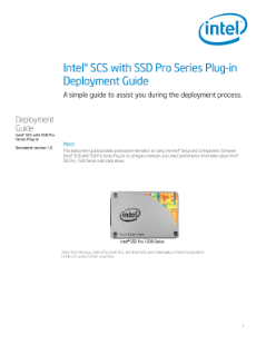 Intel® SCS with SSD Pro Series Plug-in: Deployment Guide