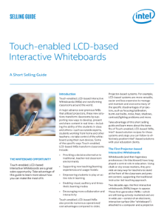 Touch-enabled LCD-based Interactive Whiteboards (IWBs)