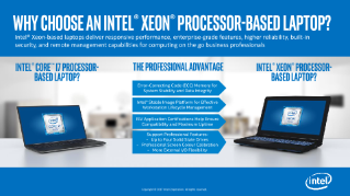 Why Choose an Intel® Xeon® Processor-Based Laptop?