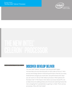 Discover, Develop, Deliver with the New Intel® Celeron® Processor