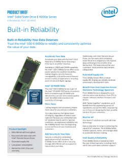 Intel® Solid State Drive E 6000p Series: Product Brief