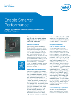 Intel® H97 Chipset and 5th Gen Intel® Core™ Processors Brief