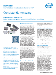 Intel® Solid-State Drive Data Center Family for PCIe* Brief