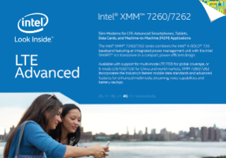 Intel® XMM™ 7262 Slim Modem—LTE Advanced