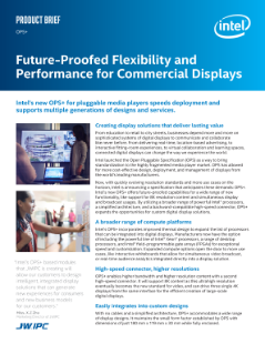 OPS+—Flexibility and Performance for Commercial Displays: Product Brief