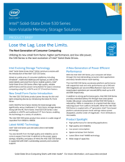 Intel® Solid-State Drive 530 Series Product Brief