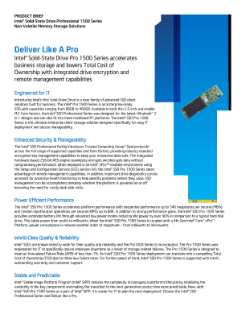 Intel® Solid-State Drive Lowers Cost of Storage