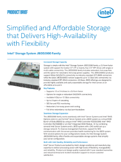 Simplified and Affordable Storage that Delivers High-Availability with Flexibility | Intel® Storage System JBOD2000 Family
