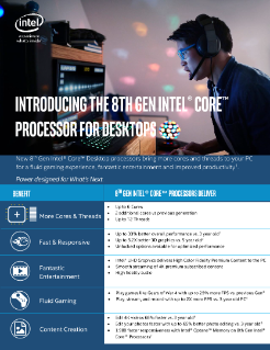 8th Gen Intel® Core™ Processor Quick Reference Selling Guide
