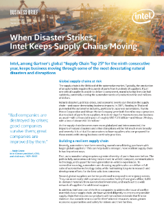 When Disaster Strikes, Intel Keeps Globalized Supply Chain Moving