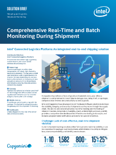 Comprehensive Real-Time and Batch Monitoring During Shipment