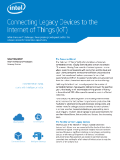 Connecting Legacy Devices to the Internet of Things