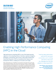 Enabling High Performance Computing (HPC) in the Cloud