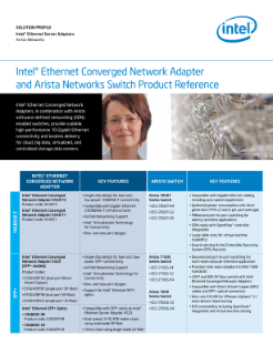 Arista Networks' Switches and Intel® Ethernet CNA