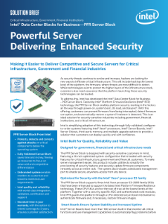 Intel® Data Center Blocks for Business - PFR Server Block Brief