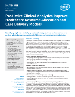 Predictive Clinical Analytics Solution Improves Healthcare