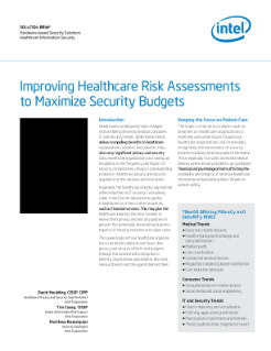 Improving Healthcare Risk Assessments to Maximize Security Benefits