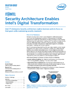 Intel IT's Security Architecture