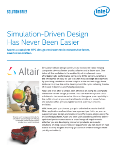 Simulation-Driven Design is Easy with Altair and Intel
