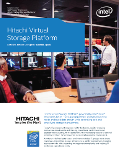 Intel® Xeon® Processors and Hitachi Virtual Storage Platform*