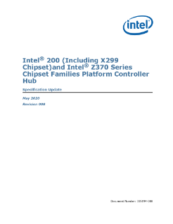 Intel® 200 and Z370 Series Chipset Families PCH Spec Update
