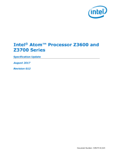 Intel Atom® Processor Z36xxx and Z37xxx Series: Spec Update