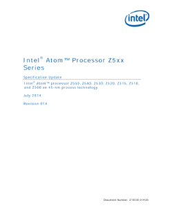 Intel Atom® Processor Z5xx Series Specification Update