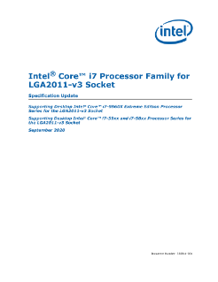 ® Intel Core™ i7 Processor Family for LGA2011-v3 Socket Specification Update