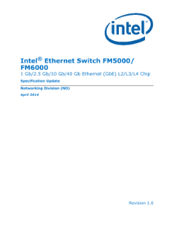 Intel® Ethernet Switch FM5000/FM6000 Specification Update