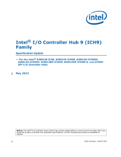 ® Intel I/O Controller Hub 9 (ICH9) Family Specification Update