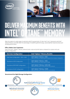 Discover Maximum Benefits with Intel® Optane™ Memory