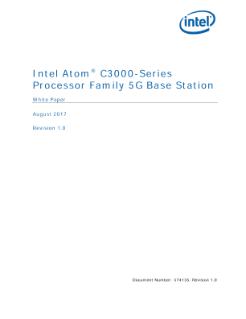 Intel Atom® Processor C3000 Series Processor Family 5G Base Station