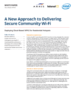 New Approach to Delivering Secure Community Wi-Fi